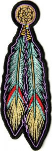 tribal-feathers-biker-patch-105x300